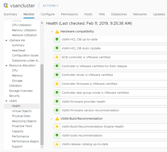 Built-in-VMware-vSAN-health-checks-discovering-issues-in-the-environment Troubleshooting vSAN Performance in Five Steps