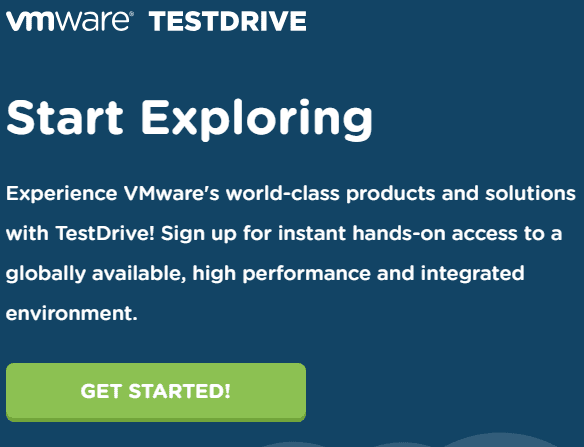 Click-the-Get-Started-button-to-begin-enrolling-in-TestDrive-with-VMUG-email-address VMware TestDrive added to VMUG Advantage Subscriptions