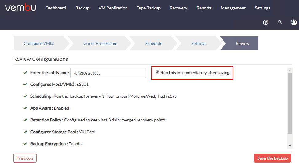 Saving-the-new-Hyper-V-VM-Backup-job-in-Vembu-BDR-Suite-4.0-1 Vembu BDR Suite 4.0 Product Review