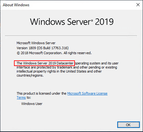 Upgrade Windows Server 2019 Evaluation to Full Version