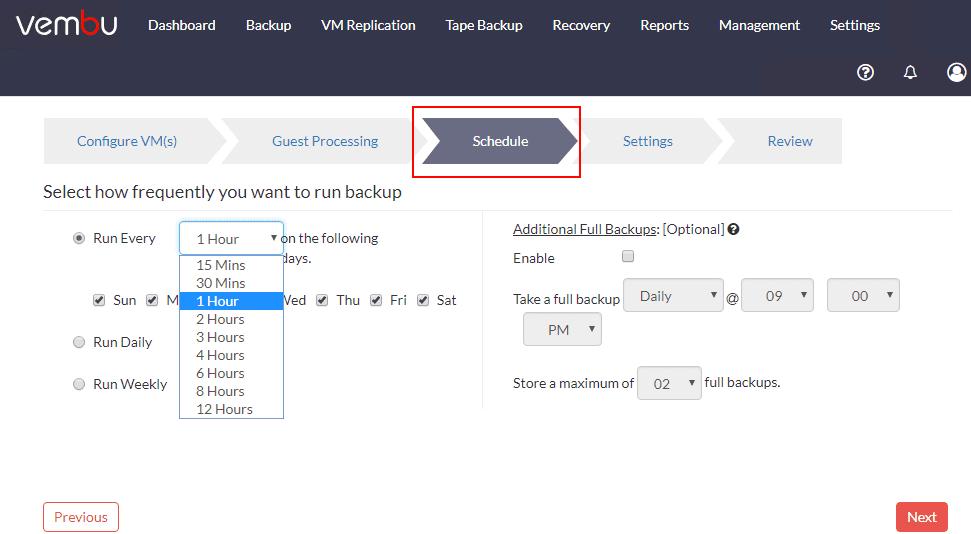 Vembu-BDR-Suite-4.0-Scheduling-options Vembu BDR Suite 4.0 Product Review
