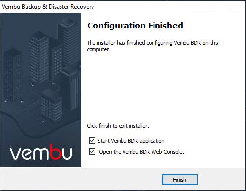 Vembu-BDR-Suite-4.0-installation-finishes Vembu BDR Suite 4.0 Product Review