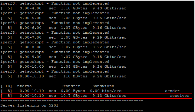 iPerf3-results-on-the-server-side-displayed Run Basic Network Speed Bandwidth Throughput Test Between ESXi Hosts