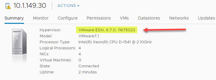 After-running-the-latest-updates-for-ESXi-6.7-U1-10302608-hosts NSX-T 2.4 Invalid Host Type or Host Not Supported Error