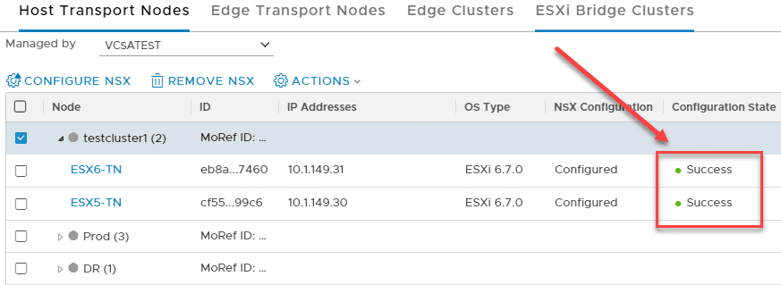 After-updating-the-NSX-T-2.4-configuration-state-on-the-ESXi-6.7-U1-11675023-hosts-is-successful NSX-T 2.4 Invalid Host Type or Host Not Supported Error