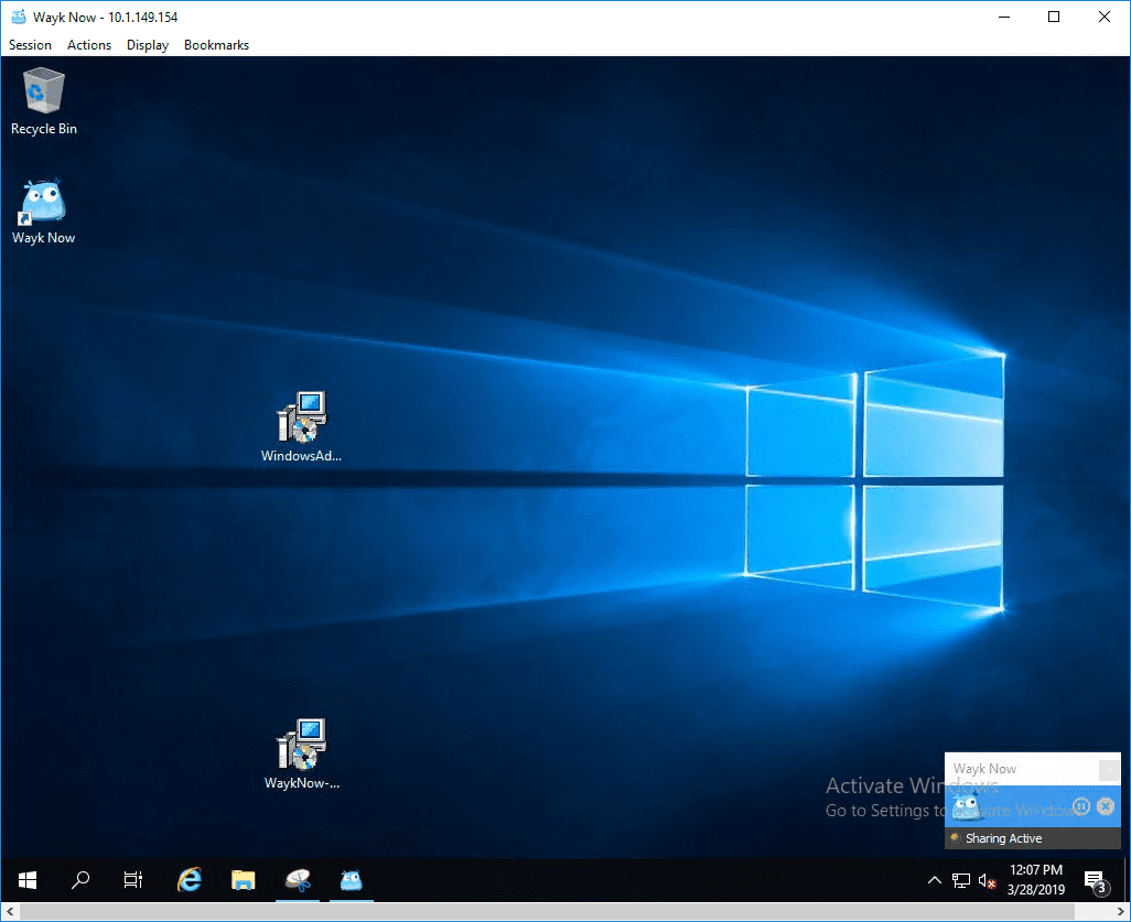 Remote-access-connection-established-with-Wayk-Now