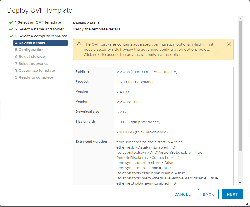 Review-the-details-of-the-NSX-T-2.4-OVA-appliance-deployment Install VMware NSX-T 2.4 Manager Controller Combined Appliance