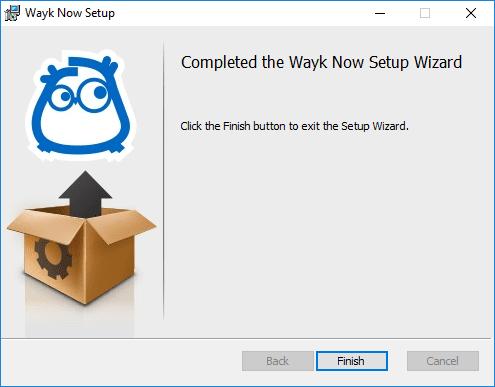 Wayk-Now-Installation-finished