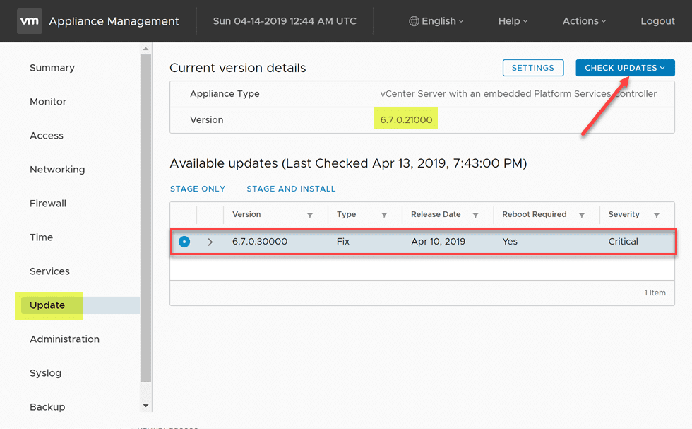 Upgrade to VMware vSphere vCenter VCSA 6 7 Update 2 with