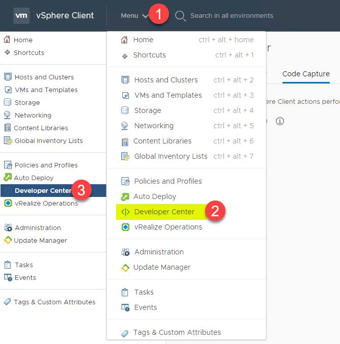 New VMware vSphere 6 7 Update 2 Client Developer Center API