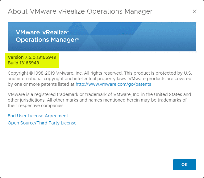 Verifying-the-version-of-vRealize-Operations-Manager-after-the-7.5-upgrade