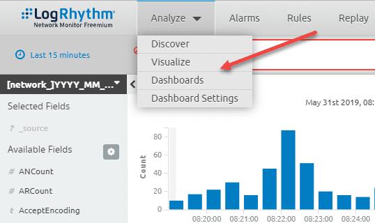 Analyze-options-in-LogRhythm-Freemium