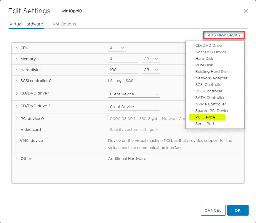 Enable VMware Virtual Machine 802 1X Authentication