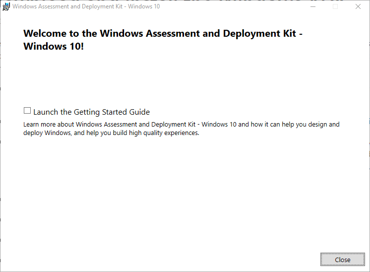 Installation-of-Windows-Assessment-and-Deployment-Kit-completed-successfully