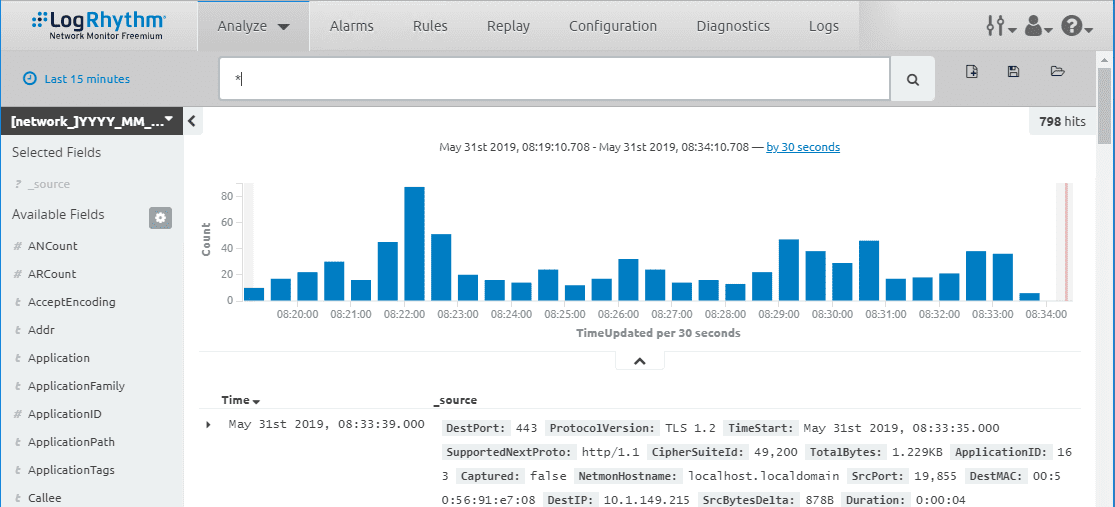 The-Analyze-Discover-Dashboard-in-LogRhythm-Netmon-Freemium