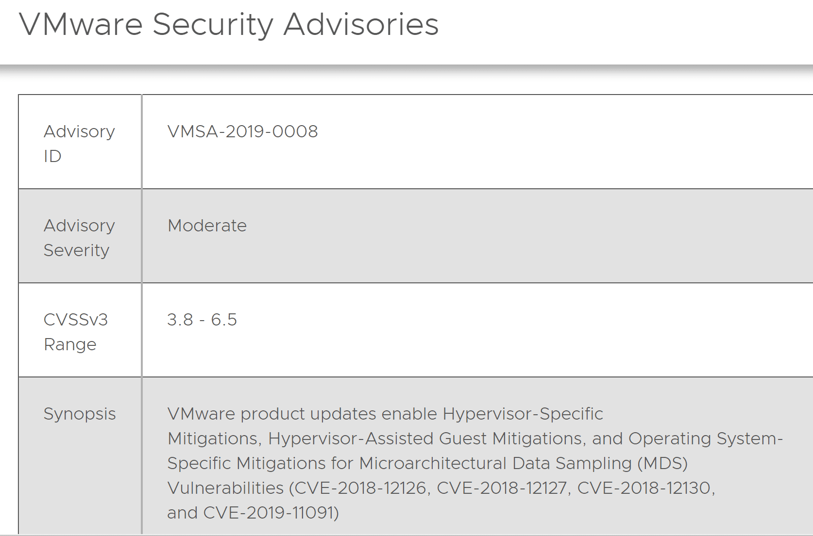 VMware-patches-new-Intel-speculative-execution-microarchitectural-data-sampling-MDS-vulnerability
