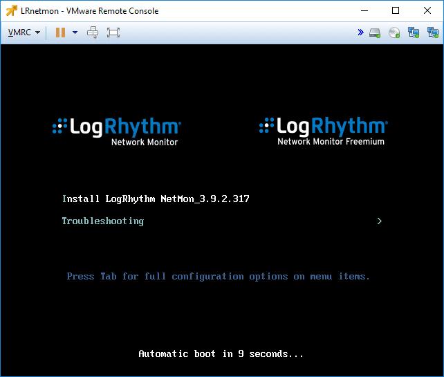 Installation-of-the-LogRhythm-NetMon-VM-appliance-begins