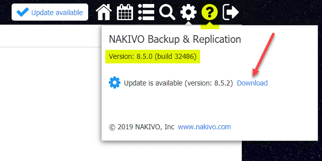 Traditional-update-link-for-updating-the-NAKIVO-appliance
