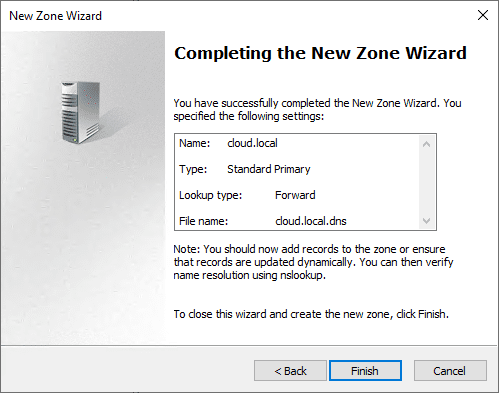 Completing-the-new-DNS-zone-wizard-using-the-exported-DNS-zone-file