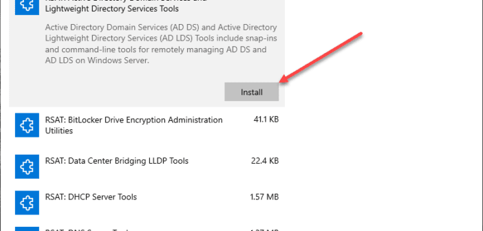 Download Windows 10 1809 1903 RSAT Install Using New Windows