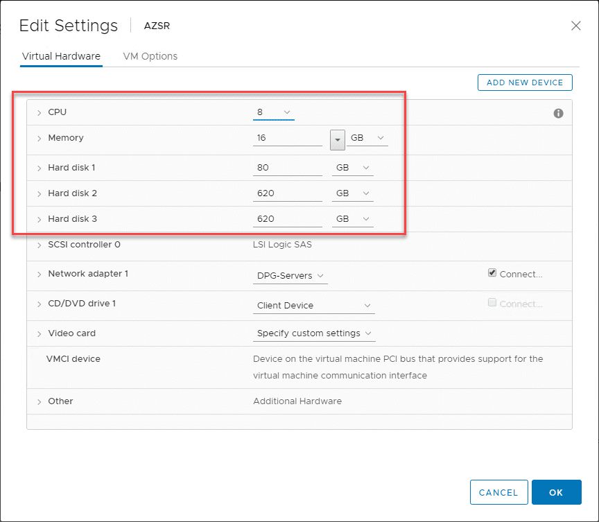 The-Azure-Site-Recovery-VMware-VM-hardware-after-deployment