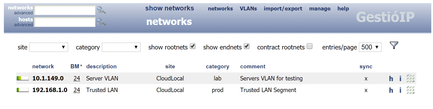 After-adding-a-couple-of-networks-to-Gestioip