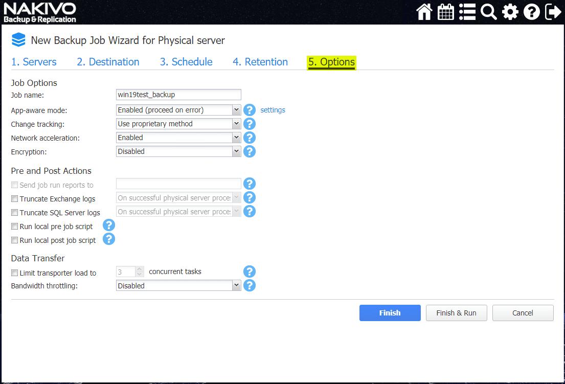 Backup-job-for-physical-server-options-screen