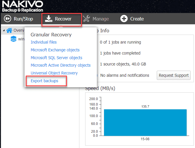 Easily P2V Physical Windows Servers to VMs with NAKIVO