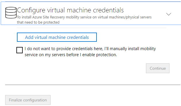 Configure-virtual-machine-credentials-to-install-Azure-Site-REcovery-mobility-service