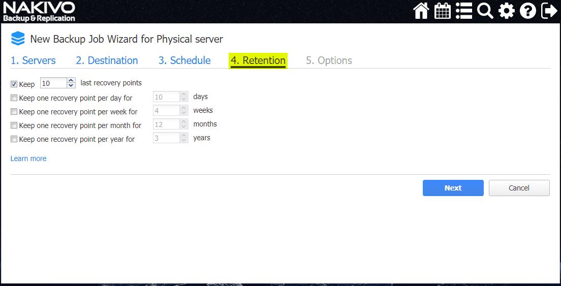 Retention-settings-for-physical-server-backup-job