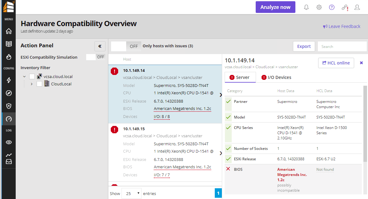 Runecast-Analyzer-3.0-ESXi-and-vSAN-automatic-Hardware-Compatibility-dashboard