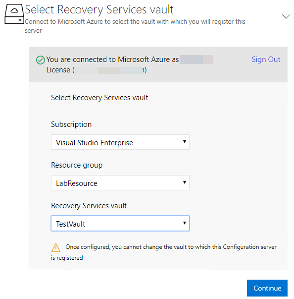 Signed-into-Azure-subscription-resource-group-and-recovery-services-vault-chosen