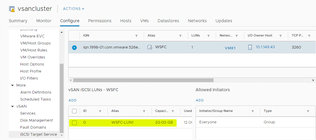Verifying-the-new-vSAN-iSCSI-LUN-has-been-successfully-added