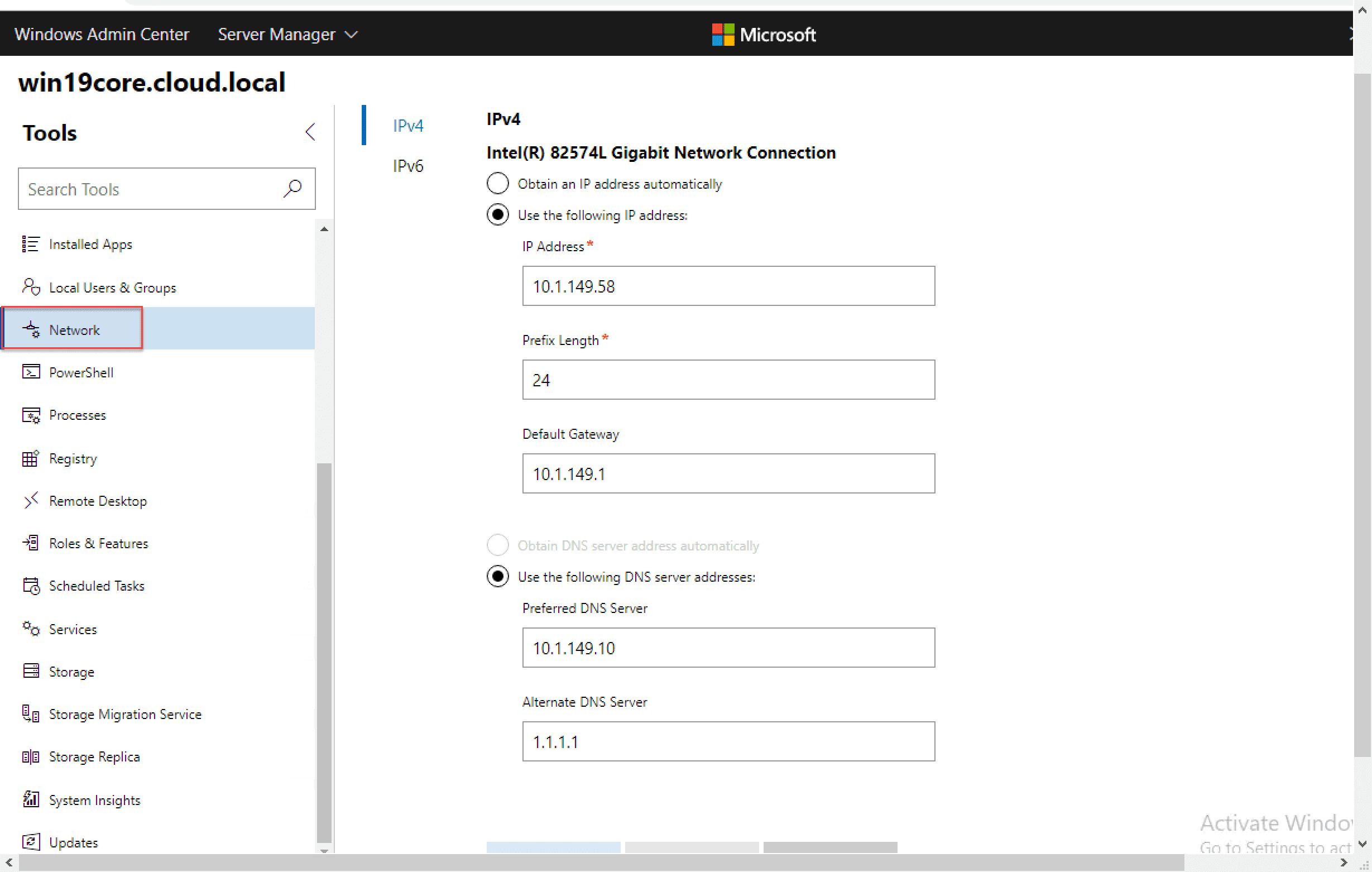 Configure-network-settings-on-Windows-Server-2019-Core-with-Windows-Admin-Center