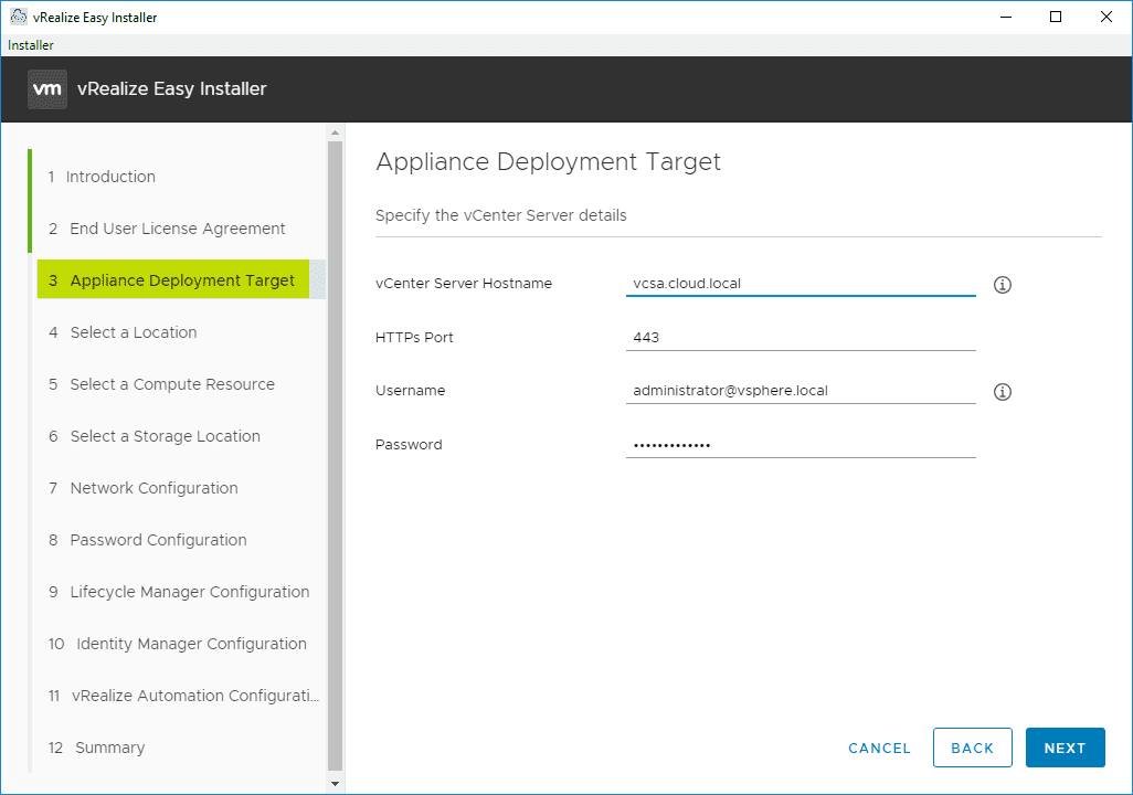 Configure-the-appliance-deployment-target-for-vRealize-Automation-8