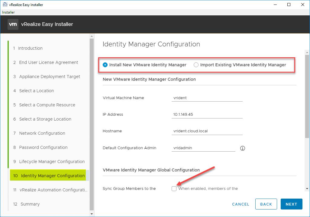 Identity-Manager-configuration
