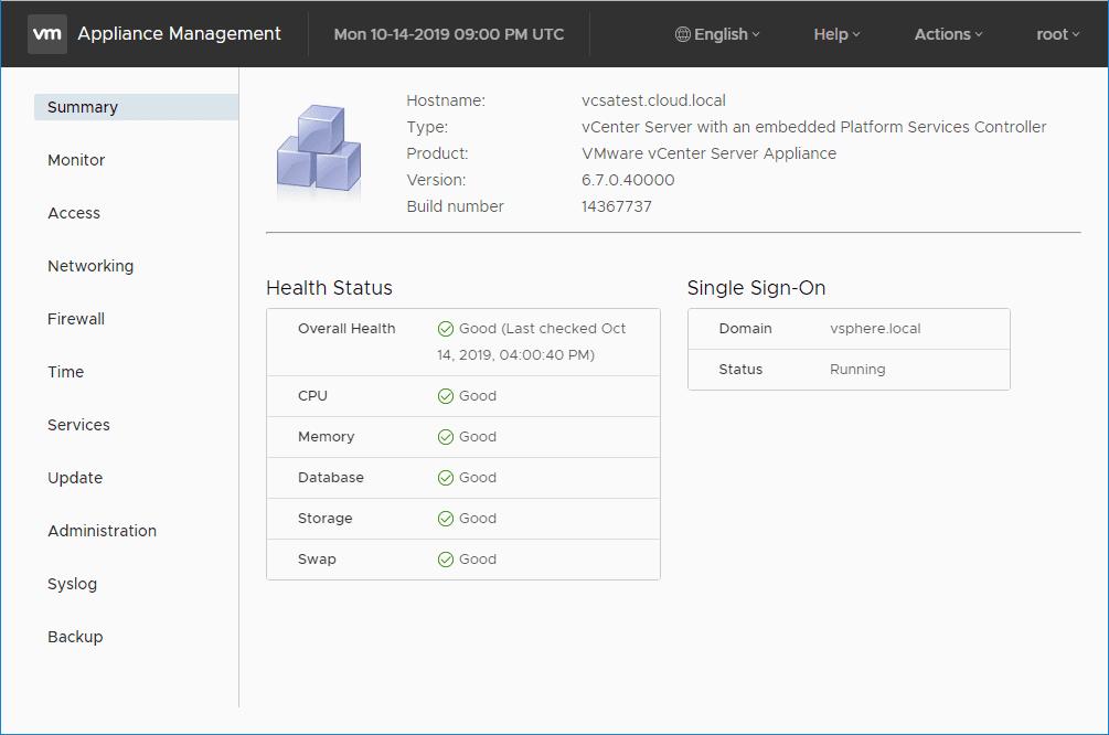 Managing-VCSA-appliance-using-the-VAMI-interface