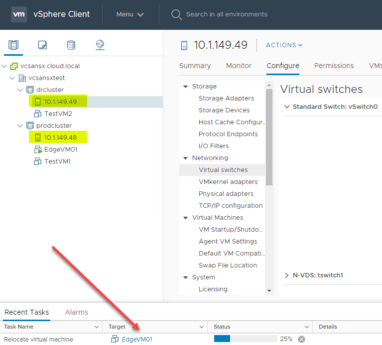 Relocating-VMs-for-the-production-cluster-NSX-T-upgrade