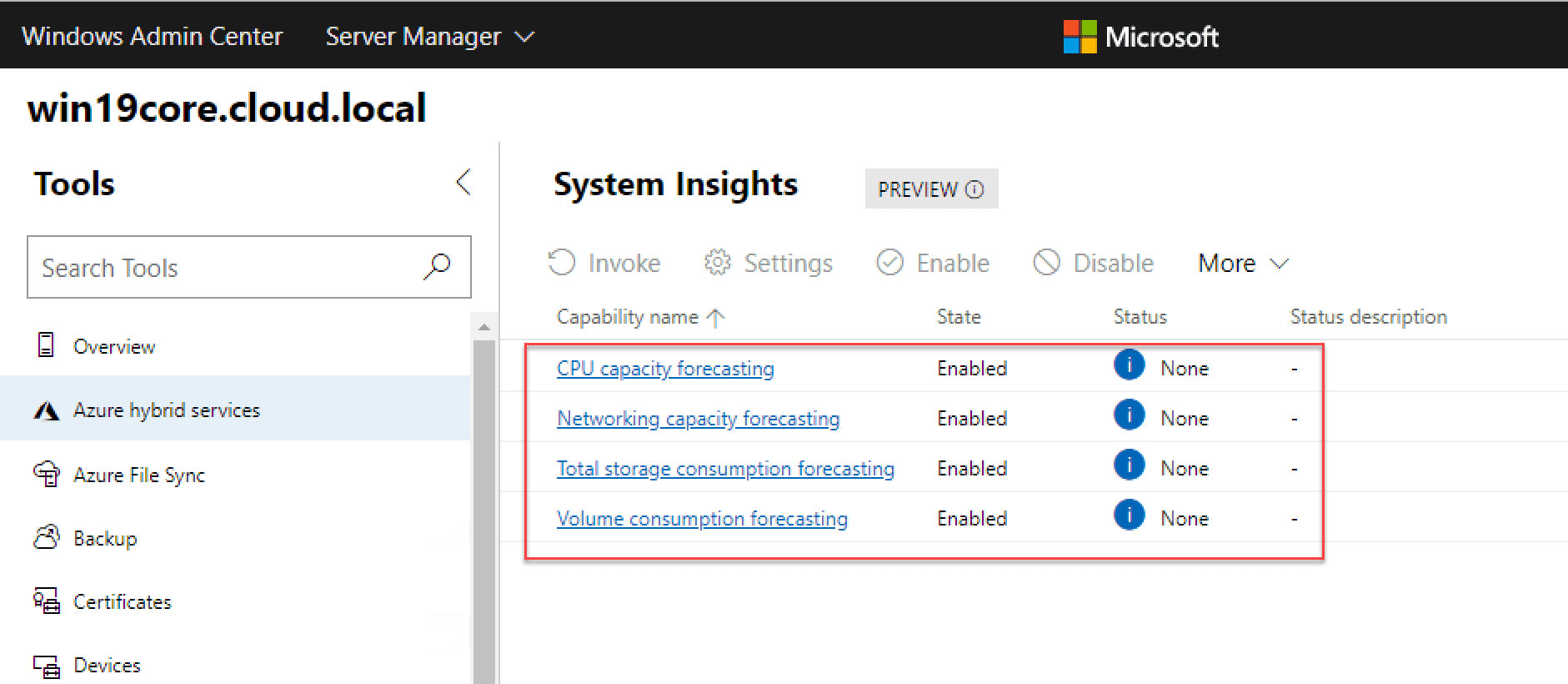 System-Insights-information-gathering-for-Windows-Server-2019-Core