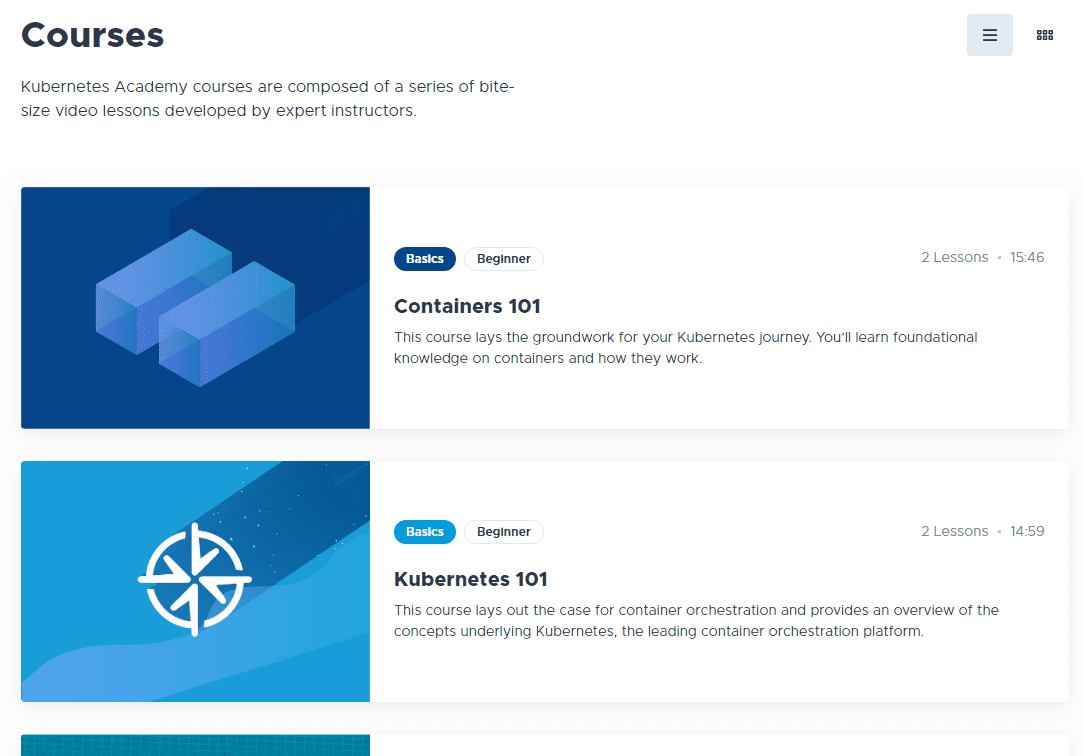 Under-courses-you-can-view-the-available-courses-on-the-Kubernetes-Academy-site
