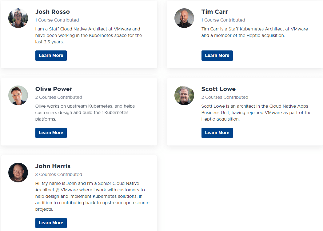VMware-Kubernetes-Academy-online-instructors