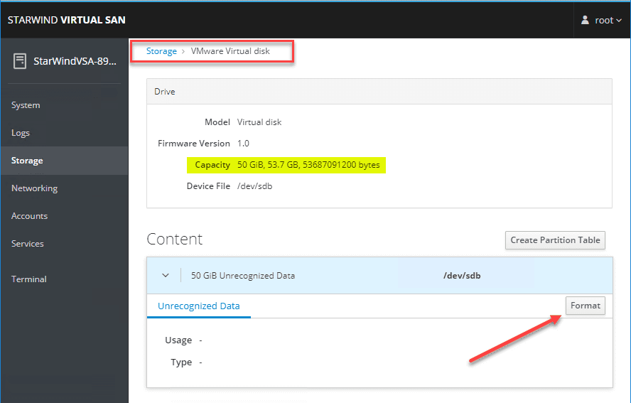 Format-the-new-disk-added-to-the-StarWind-Linux-virtual-appliance