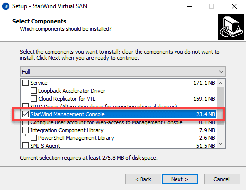 Installing-the-StarWind-Management-Console-component