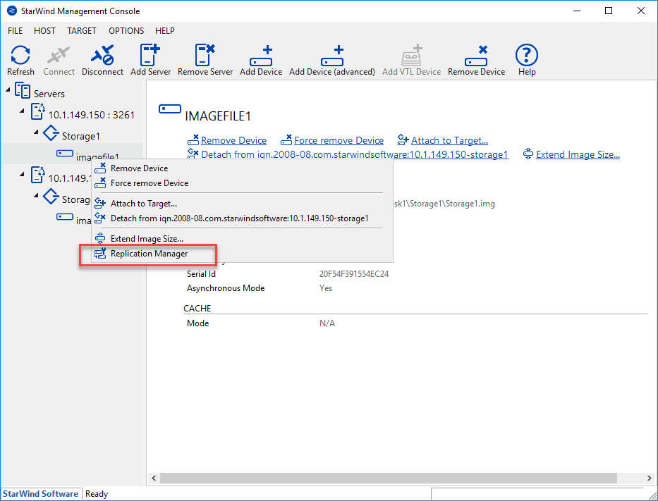 Launching-the-replication-manager-in-StarWind-Management-Console