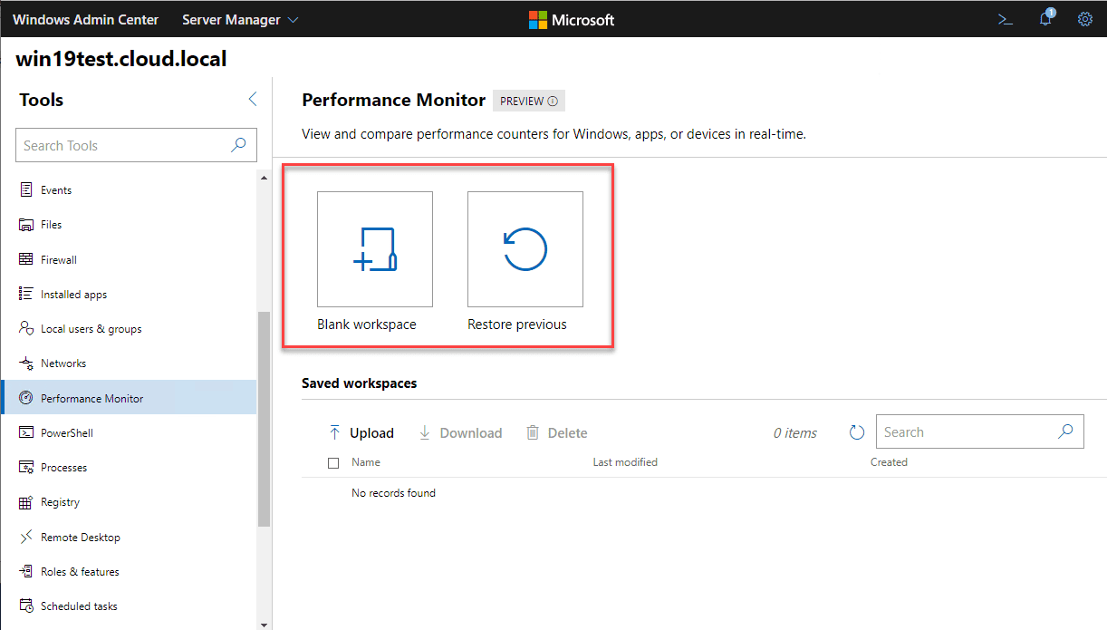 Performance-Monitor-in-Windows-Admin-Center-introduces-Workspaces