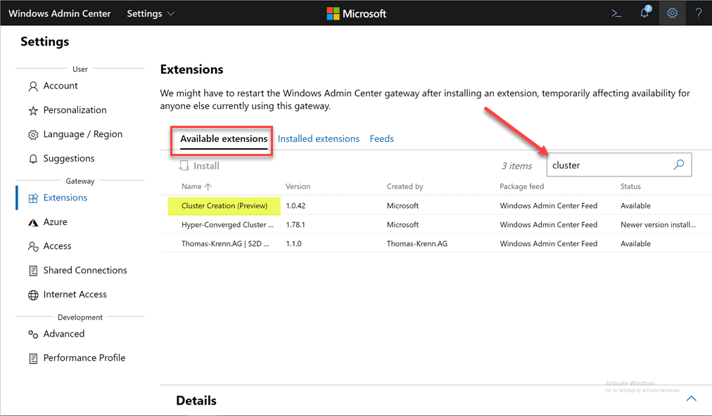Search-for-and-install-the-Cluster-Creation-extension-in-Windows-Admin-Center