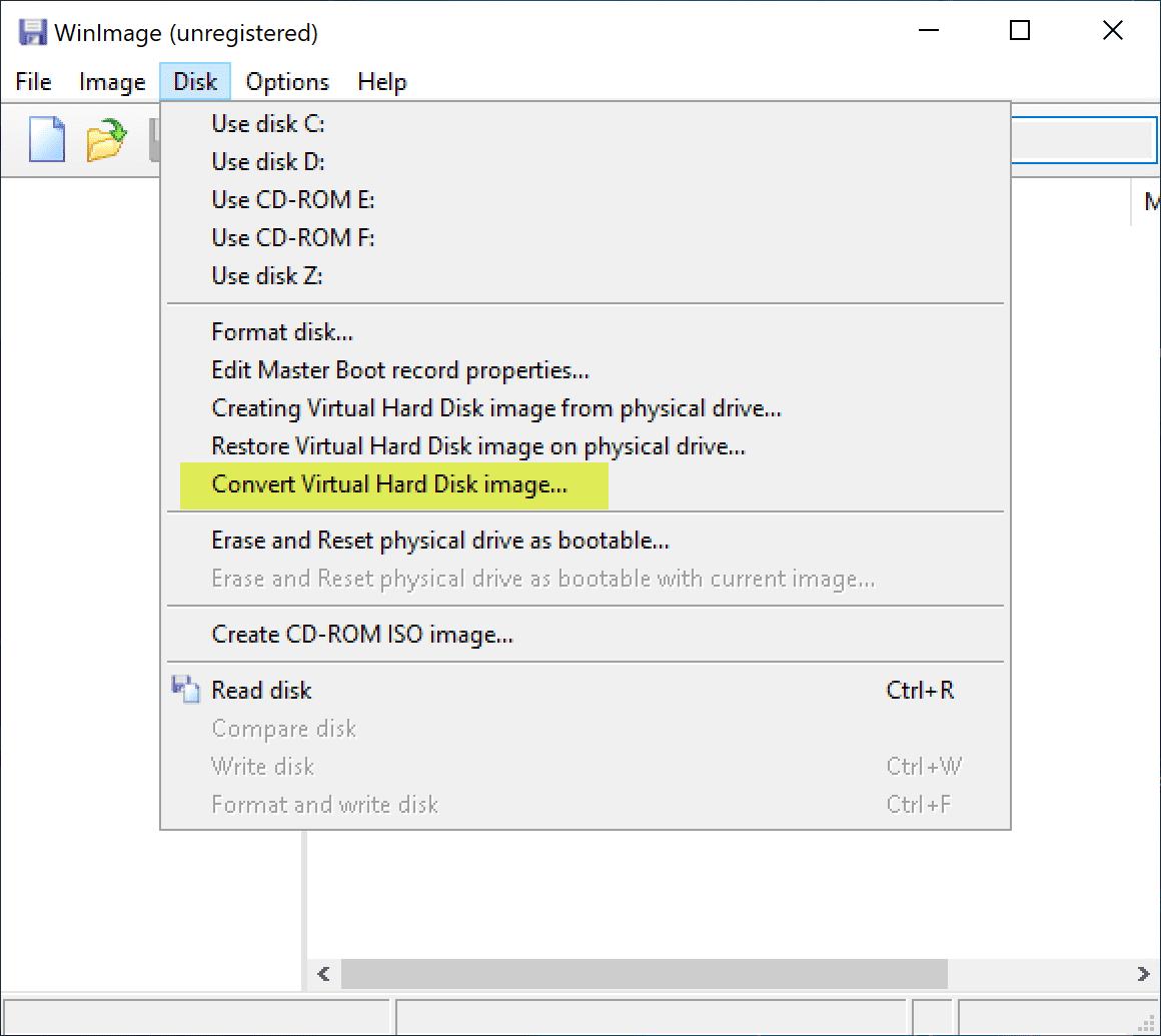Using-WinImage-to-convert-VHD-to-VMDK