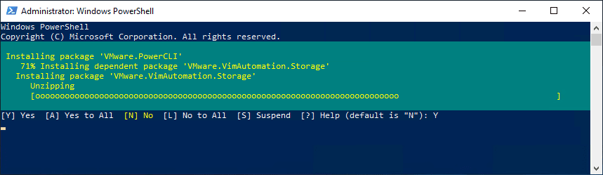 Installation-of-PowerCLI-begins-in-PowerShell