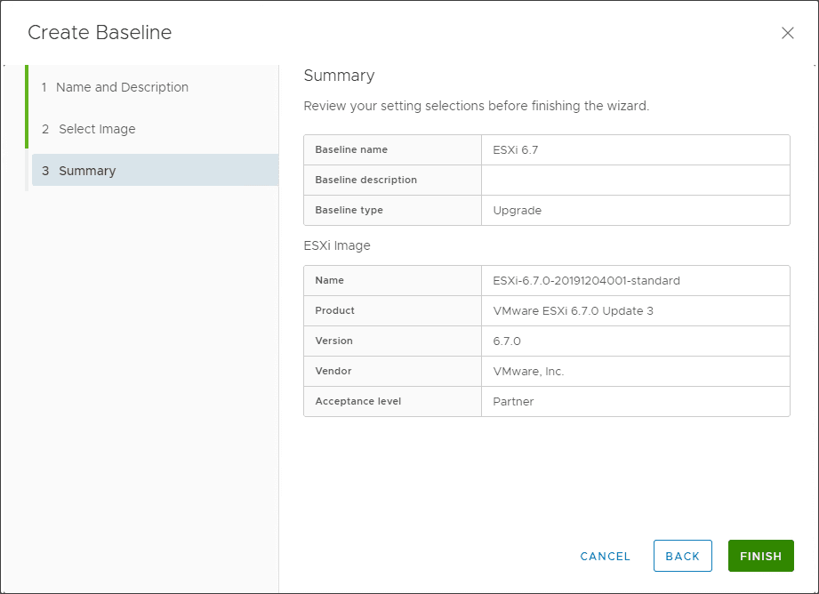 Review-the-settings-for-the-ESXi-6.7-upgrade-baseline