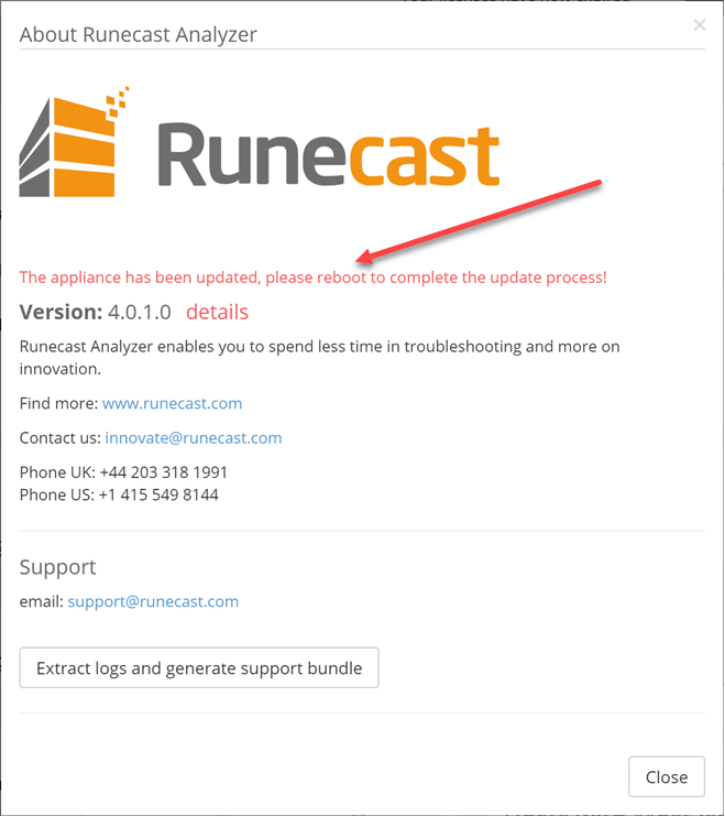 Runecast-Analyzer-appliance-automatically-updates-to-4.0-and-prompts-for-a-reboot
